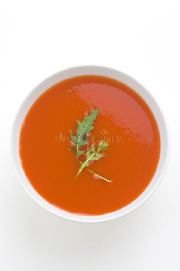 Sopa e vegetais caseiros saudáveis do tomate fotografia de stock