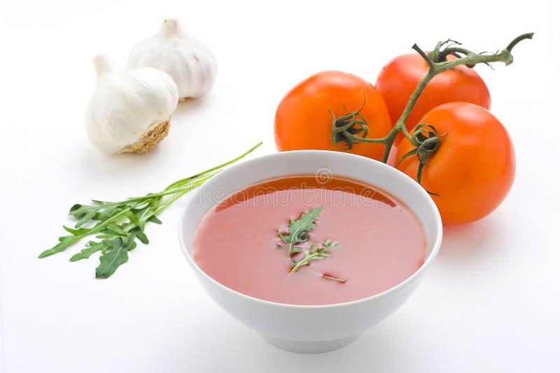 Sopa e vegetais caseiros saudáveis do tomate fotos de stock royalty free