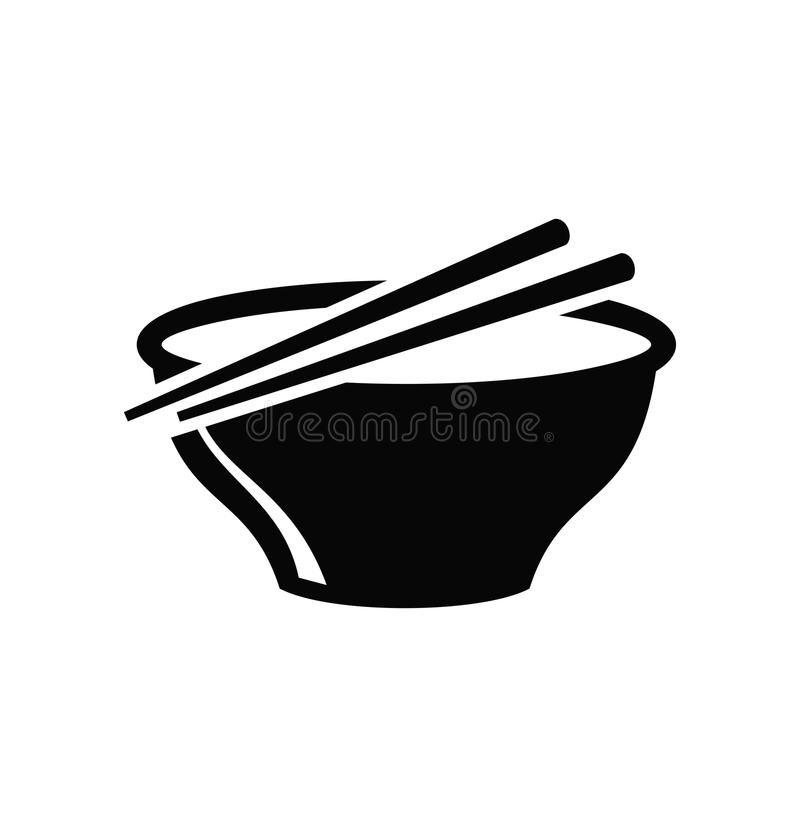 Sopa en tazón de fuente stock de ilustración