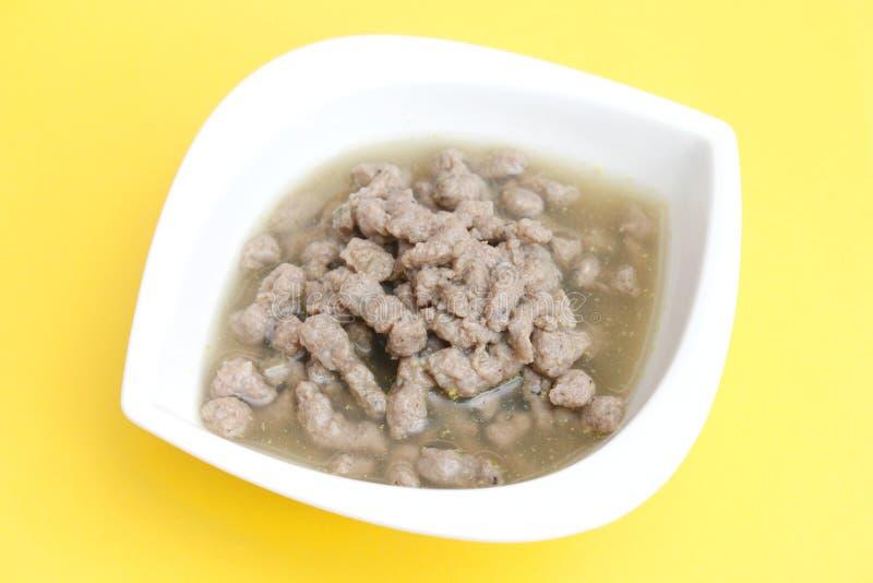Sopa fresca com fígado fotografia de stock royalty free