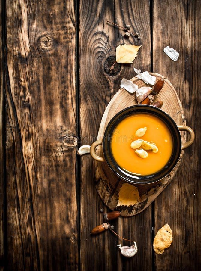 Sopa fresca da abóbora fotografia de stock