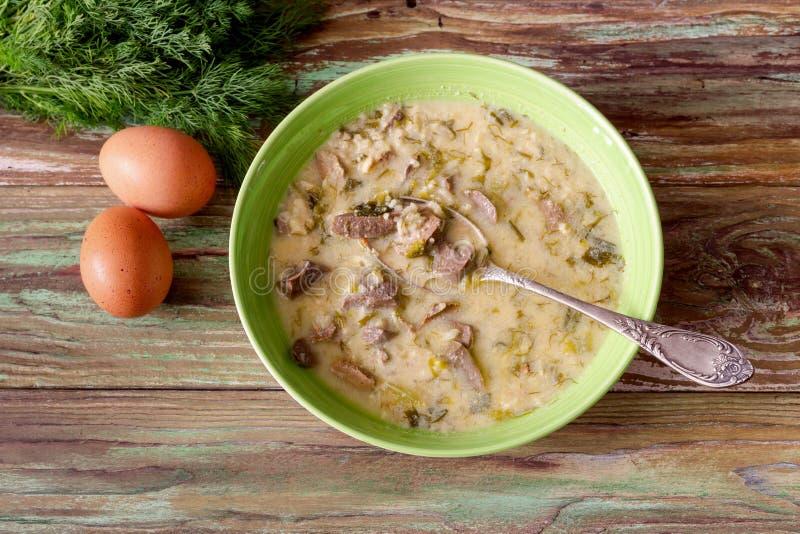Sopa grega nacional 'Magiritsa ' foto de stock