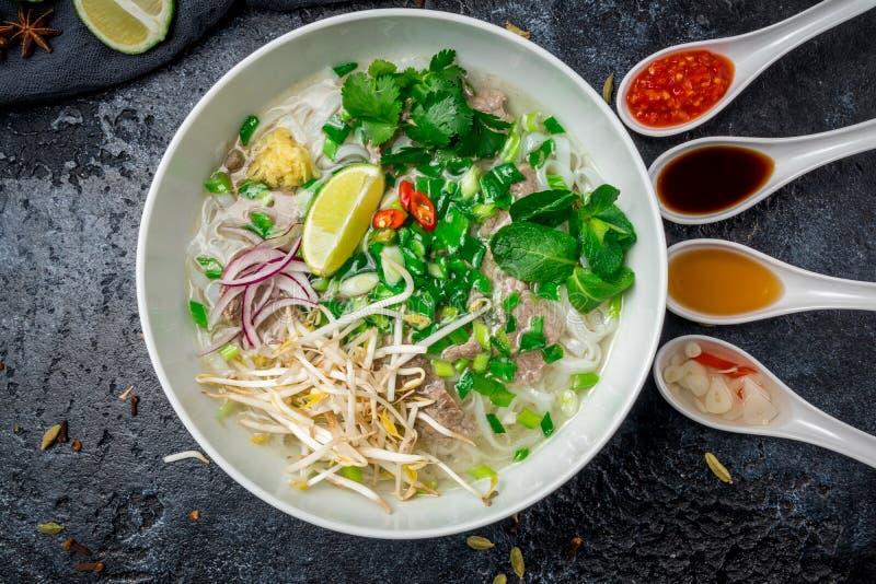 Sopa Pho BO imagem de stock