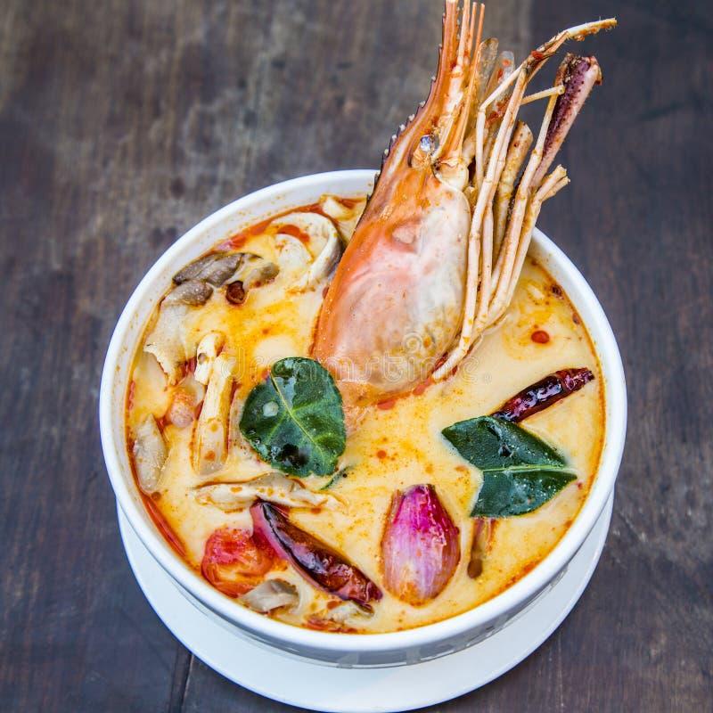 Sopa picante tailandesa imagens de stock