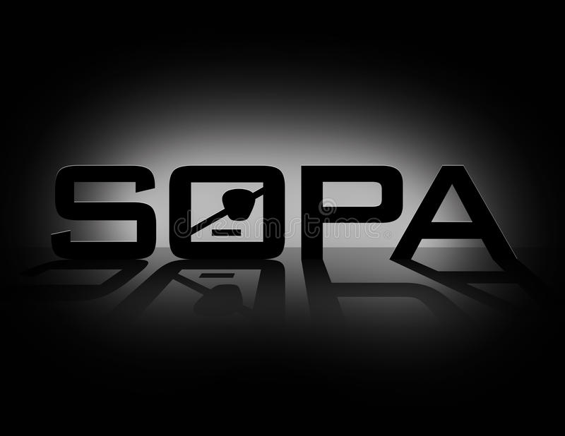 SOPA (Stop Online Piracy Act). An image illustrating SOPA (Stop Online Piracy Act