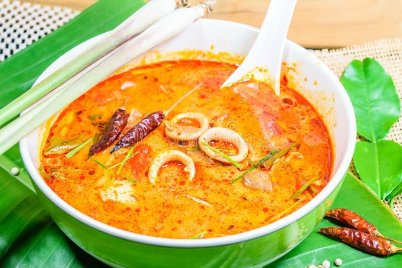 Sopa tailandesa de la especia de Tom yum fotografía de archivo libre de regalías