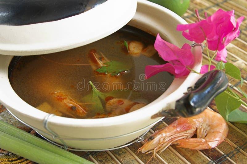 Sopa tailandesa de Tom Yum fotografía de archivo