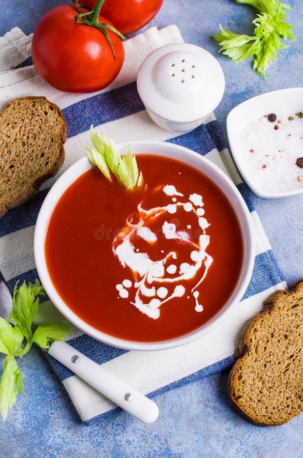 Sopa tradicional do tomate foto de stock royalty free