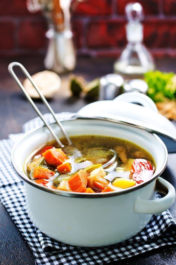 Sopa vegetal imagens de stock