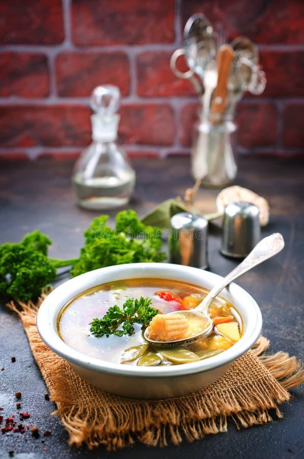 Sopa vegetal imagenes de archivo