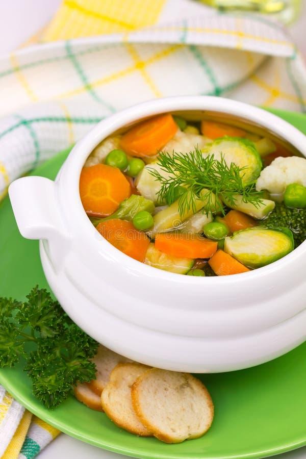 Sopa vegetal fotografia de stock