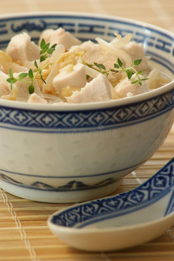 Sopa vegetal asiática foto de archivo libre de regalías