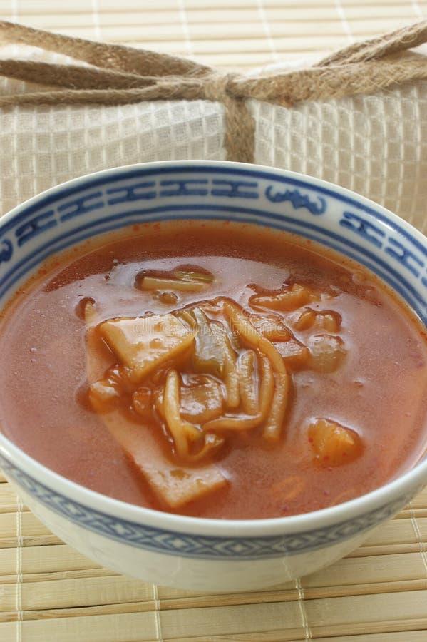 Sopa vegetal asiática con las verduras frescas fotografía de archivo libre de regalías