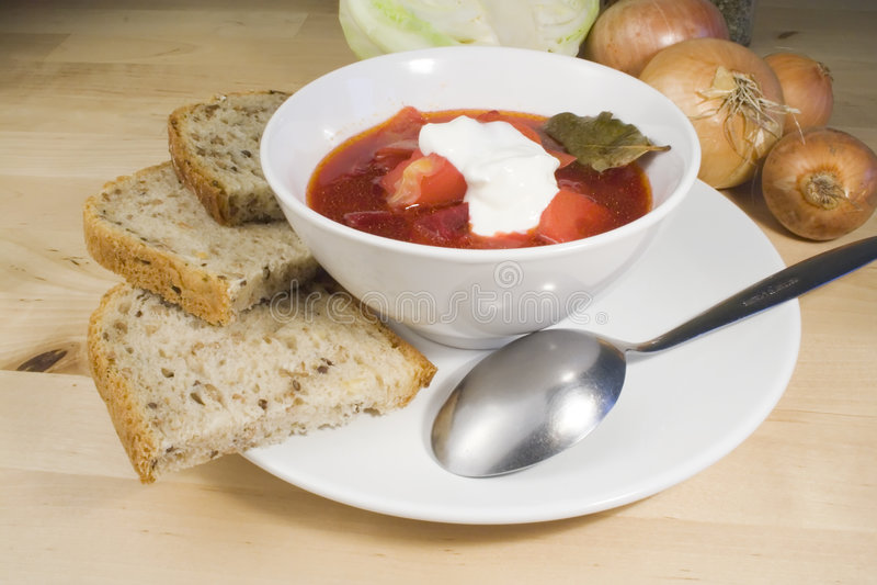 Sopa vegetal - borscht foto de stock royalty free