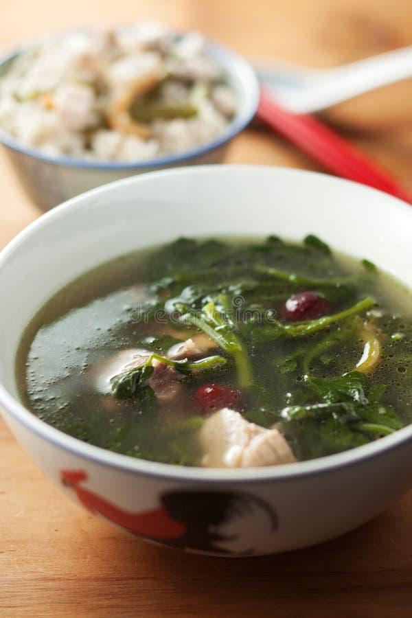 Sopa vegetal chinesa imagens de stock
