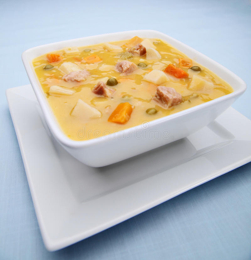 Sopa vegetal da galinha fotografia de stock royalty free