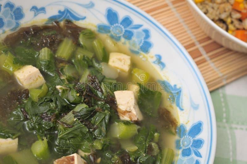 Sopa vegetal saudável imagens de stock