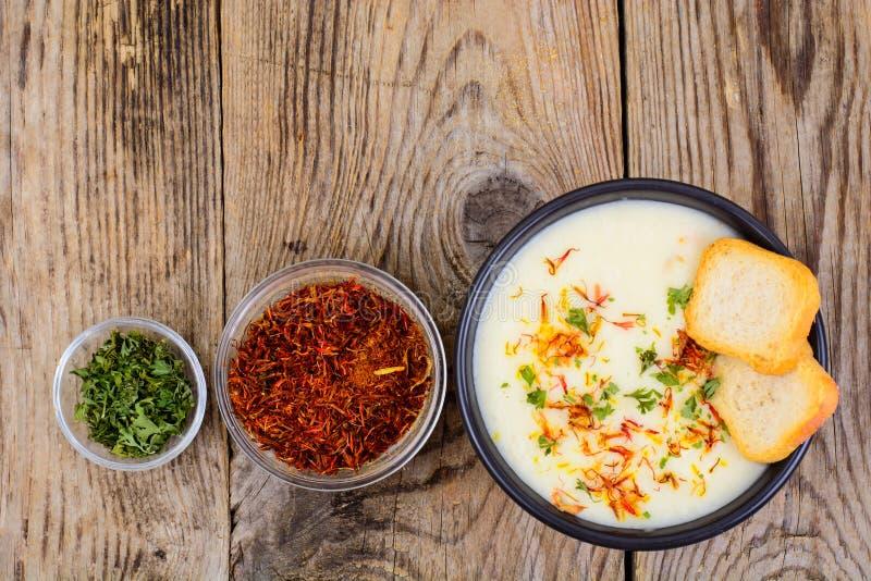 Sopa vegetariana picante del puré vegetal fotografía de archivo libre de regalías