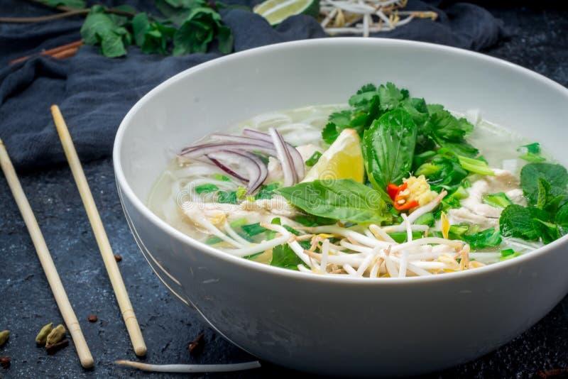 Sopa vietnamiana Pho GA foto de stock royalty free