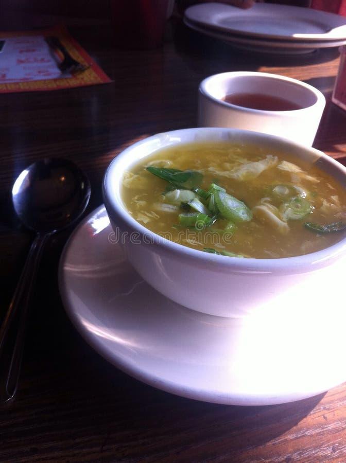¿Sopa y té? foto de archivo libre de regalías