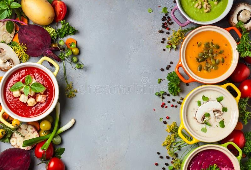 Sopas de creme vegetais fotos de stock royalty free