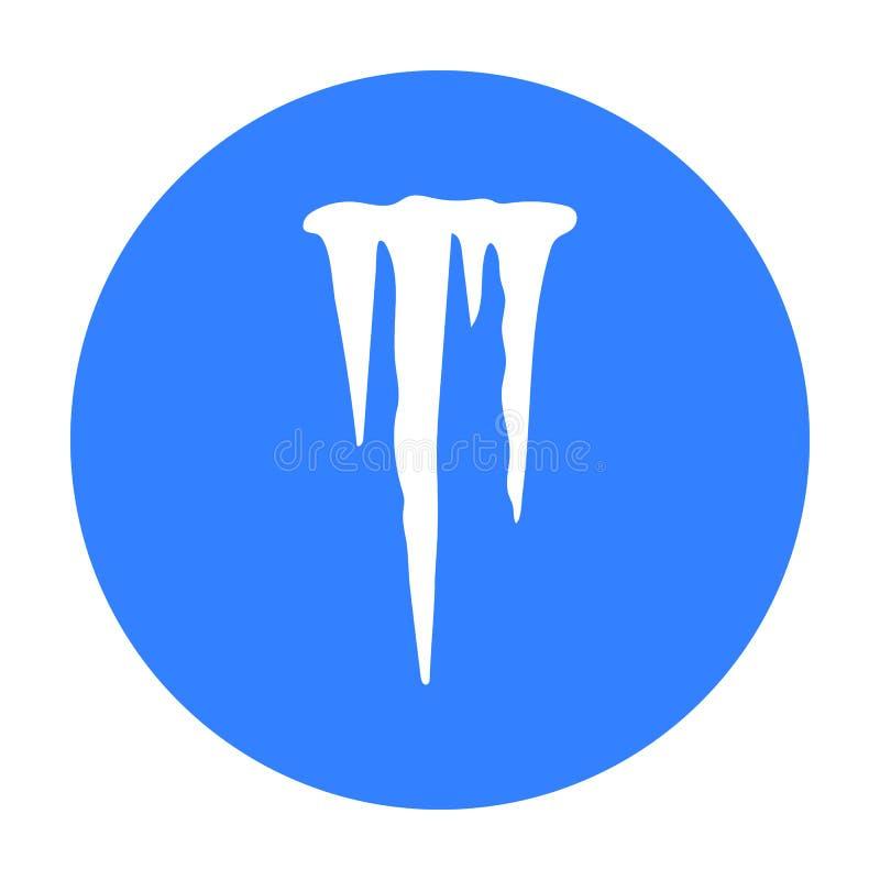 Sopel ikona w czerń stylu odizolowywającym na białym tle Pogodowego symbolu zapasu wektoru ilustracja ilustracji