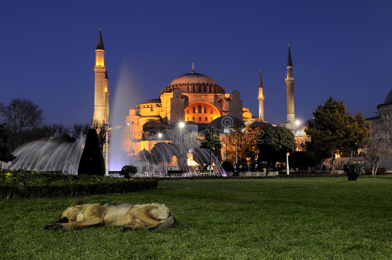 sophia Τουρκία φωτογραφιών νύχτ&a στοκ εικόνες