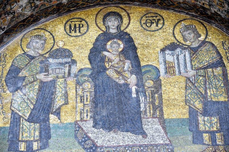 sophia de mosaïques d'Istanbul de hagia de comnenus images libres de droits