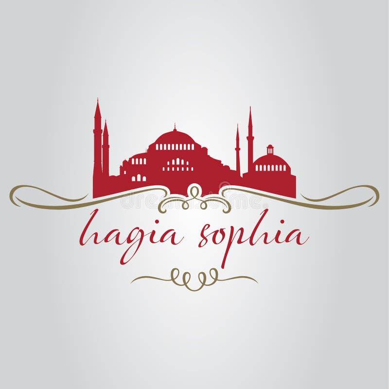 Sophia do hagia de Istambul ilustração royalty free