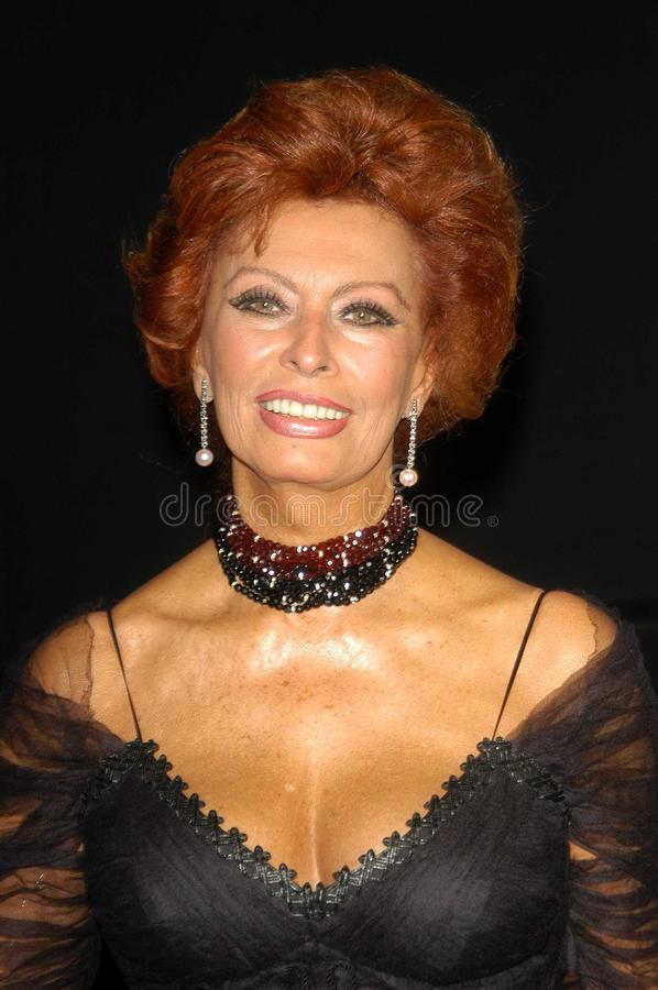 Sophia Loren royalty-vrije stock afbeelding