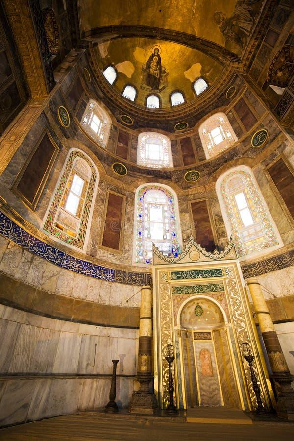 sophia mihrab hagia стоковые фотографии rf