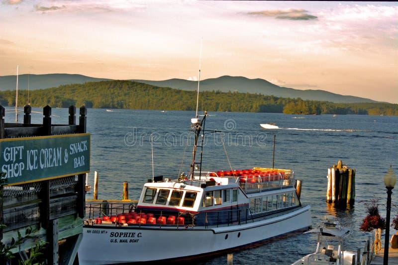Sophie C navio postal no lago Winnipesaukee fotografia de stock