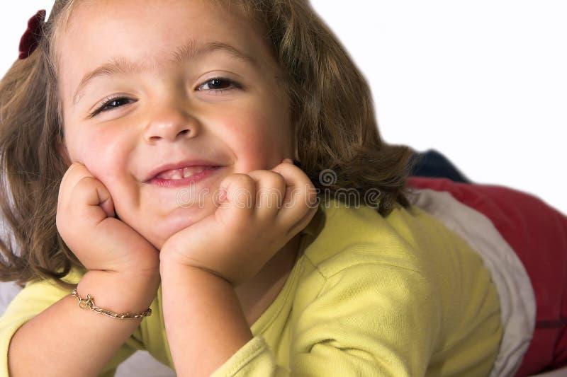 Sophie Lächeln lizenzfreie stockbilder