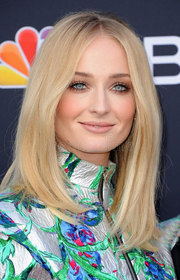 Sophie Turner. At the 2019 Billboard Music Awards held at the MGM Grand Garden Arena in Las Vegas, USA on May 1, 2019 stock image