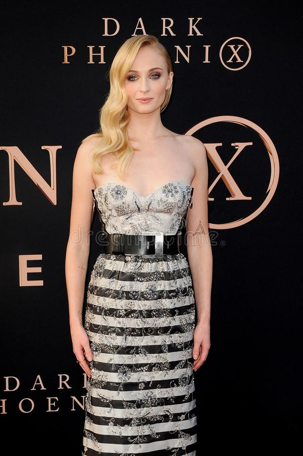 Sophie Turner. At the Los Angeles premiere of `Dark Phoenix` held at the TCL Chinese Theatre in Hollywood, USA on June 4, 2019 stock photo