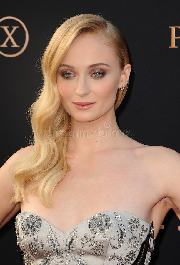 Sophie Turner. At the Los Angeles premiere of `Dark Phoenix` held at the TCL Chinese Theatre in Hollywood, USA on June 4, 2019 stock image