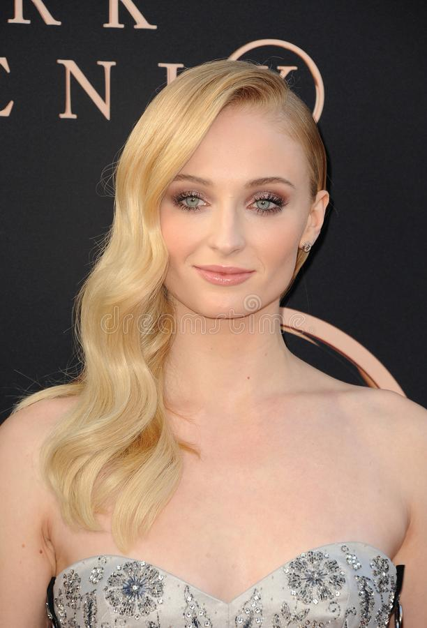 Sophie Turner. At the Los Angeles premiere of `Dark Phoenix` held at the TCL Chinese Theatre in Hollywood, USA on June 4, 2019 royalty free stock image