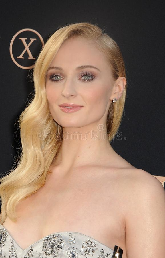 Sophie Turner. At the Los Angeles premiere of `Dark Phoenix` held at the TCL Chinese Theatre in Hollywood, USA on June 4, 2019 stock photography