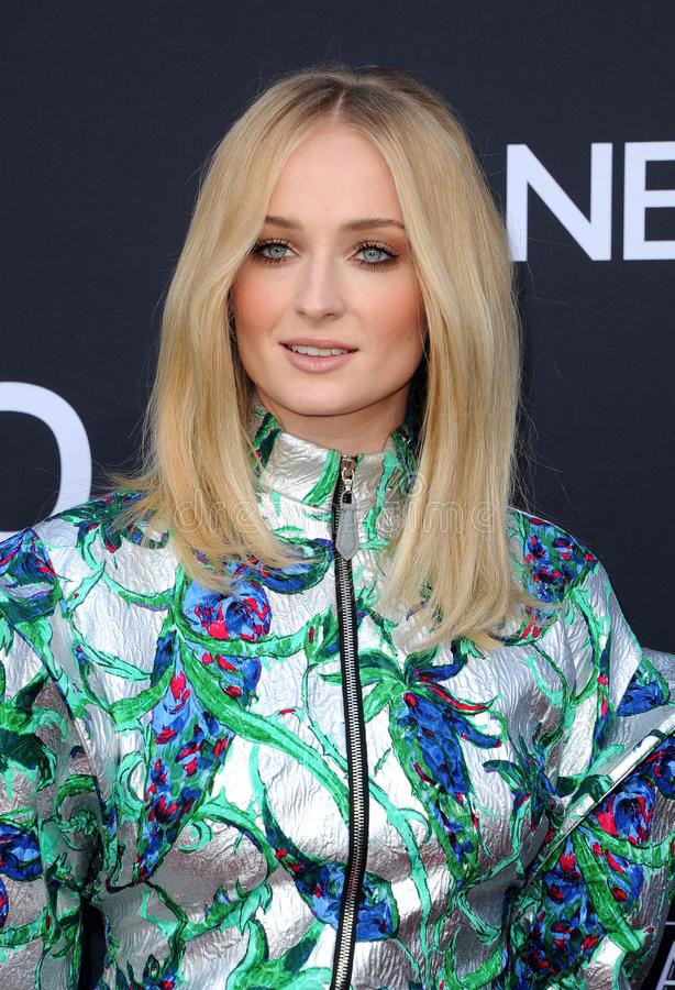 Sophie Turner. At the 2019 Billboard Music Awards held at the MGM Grand Garden Arena in Las Vegas, USA on May 1, 2019 royalty free stock image