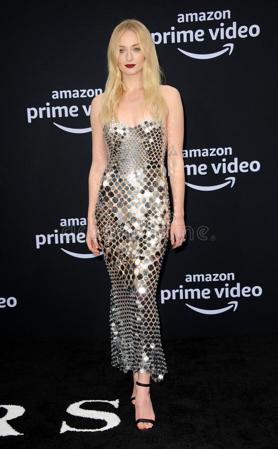 Sophie Turner. At the premiere of Amazon Prime Video`s `Chasing Happiness` held at the Regency Bruin Theatre in Westwood, USA on June 3, 2019 royalty free stock images