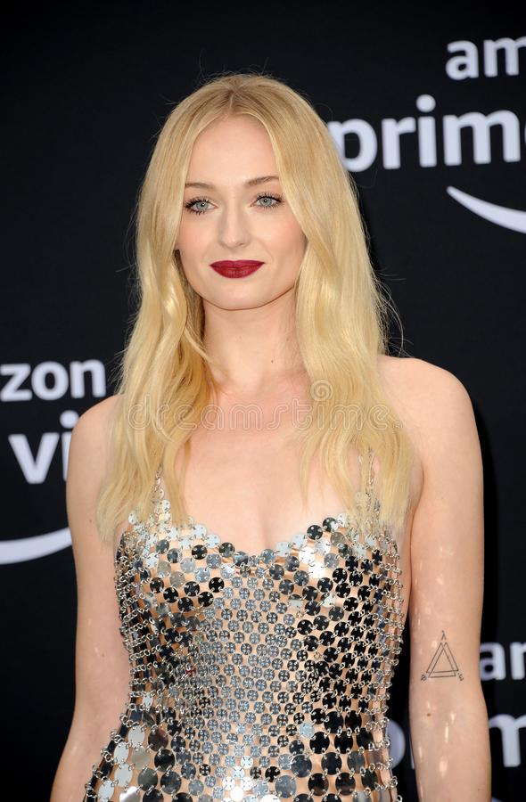 Sophie Turner. At the premiere of Amazon Prime Video`s `Chasing Happiness` held at the Regency Bruin Theatre in Westwood, USA on June 3, 2019 stock image