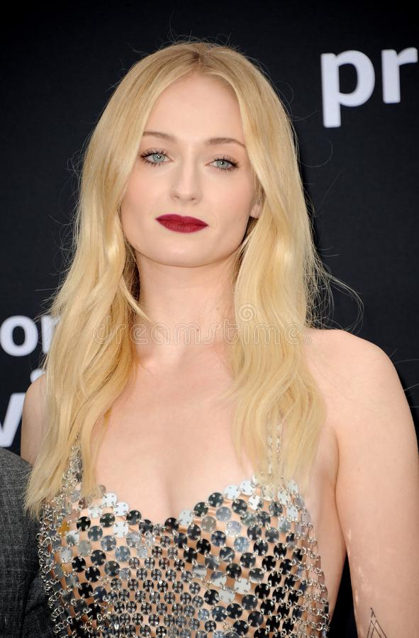 Sophie Turner. At the premiere of Amazon Prime Video`s `Chasing Happiness` held at the Regency Bruin Theatre in Westwood, USA on June 3, 2019 royalty free stock photography