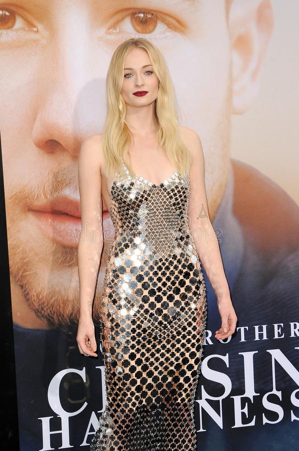 Sophie Turner. At the premiere of Amazon Prime Video`s `Chasing Happiness` held at the Regency Bruin Theatre in Westwood, USA on June 3, 2019 royalty free stock image