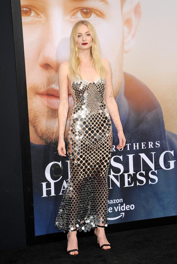 Sophie Turner. At the premiere of Amazon Prime Video`s `Chasing Happiness` held at the Regency Bruin Theatre in Westwood, USA on June 3, 2019 royalty free stock photo