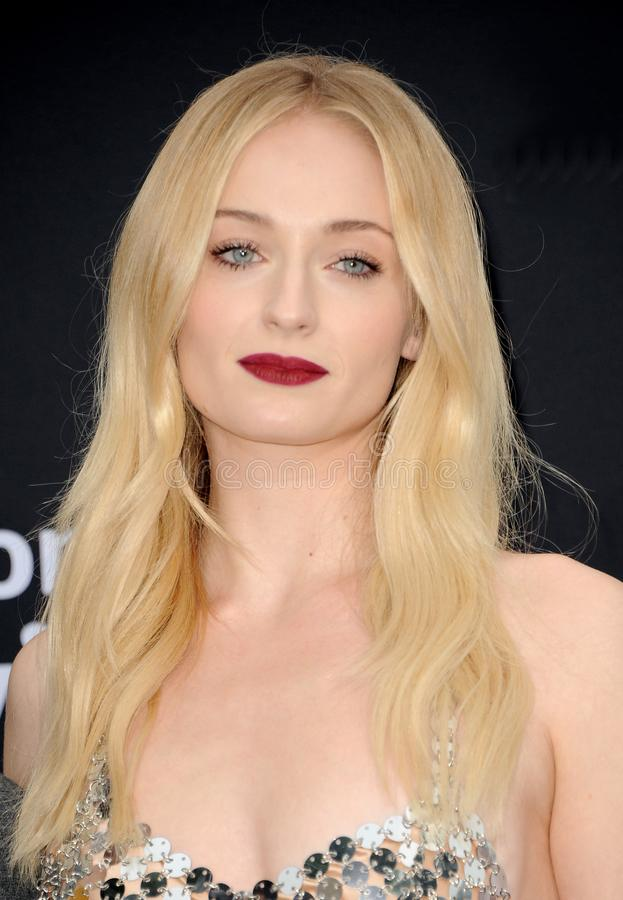 Sophie Turner. At the premiere of Amazon Prime Video`s `Chasing Happiness` held at the Regency Bruin Theatre in Westwood, USA on June 3, 2019 stock images