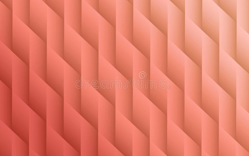 Gradient coral colors geometric lines angles abstract background design royalty free illustration