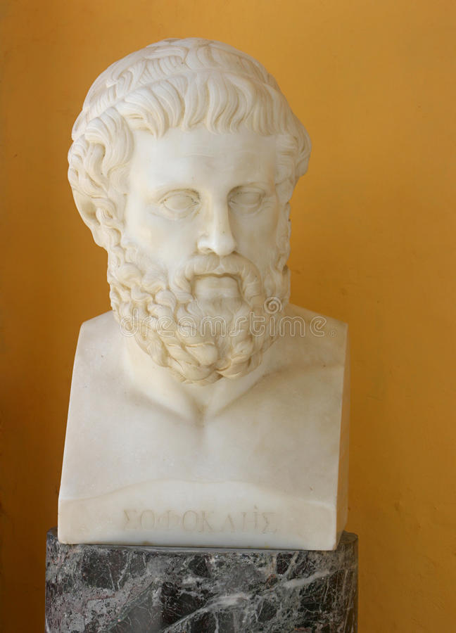 Download Sophocles bust editorial stock image. Image of marble - 19252954