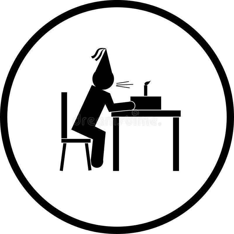 Soplar el símbolo de las velas libre illustration