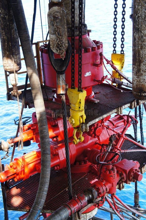 Sople hacia fuera el impedimento para el aparejo de perforación petrolífera en el mar fotografía de archivo