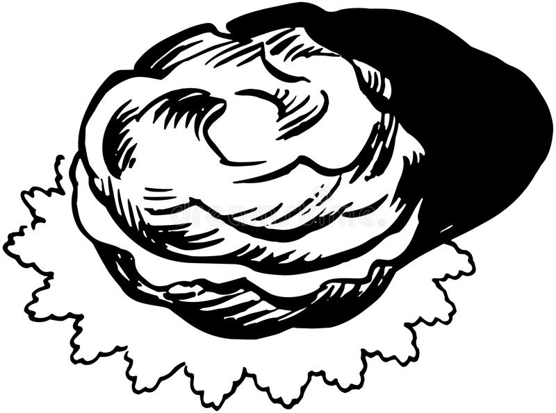 Soplo poner crema stock de ilustración